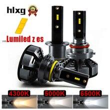 Hlxg мини H4 светодиодный H7 с Lumi светодиодный s зэс 5000 K светодиодный 12000LM 72 W/set лампада H1 лампы HB3 9005 9006 hb4 Туман Light 4300 K H8 H11 6500 K