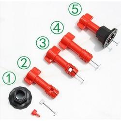 Horizontale Wedge Tegel Herbruikbare Stalen Pin Leveler Verstelbare Leveler Locator Kit Rvs Wrench Building Tools Levert
