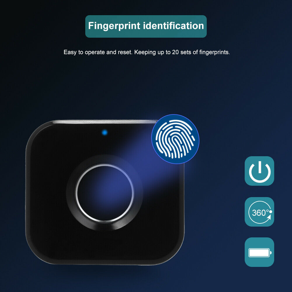New Smart Fingerprint Cabinet Drawer Keyless Digital Anti-Theft Safety Cabinet Drawer Door Lock USB Charging Fingerprint Locker