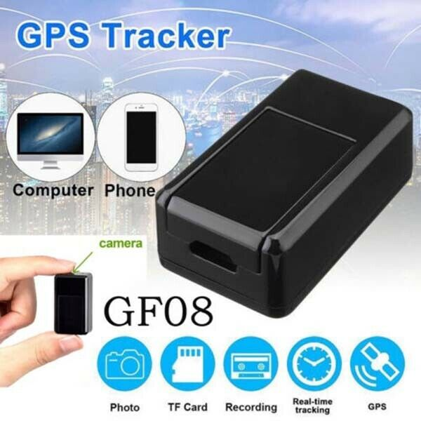 Gf07/gf08 mini gps tracker em tempo real gsm/gprs carro veículo rastreamento localizador sim câmera espião magnético dispositivo de escuta monitor
