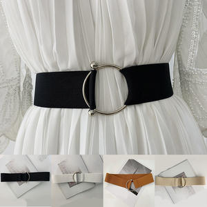 Belt-Accessories Belts Buckle Dress Elastic Female Women Fashion Round Solid Stretch