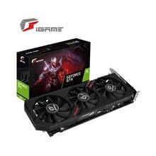 צבעוני iGame GeForce GTX 1660 Ultra 6G גרפי כרטיס GDDR5 גרפי כרטיס תמיכה אחד מפתח Overclock עם DP HDMI DVI יציאות