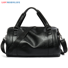 Men Travel Bag Black PU Leather Luxury Bags Hand Luggage For And Women Fashion Man Duffle Hight Quality 2019 New