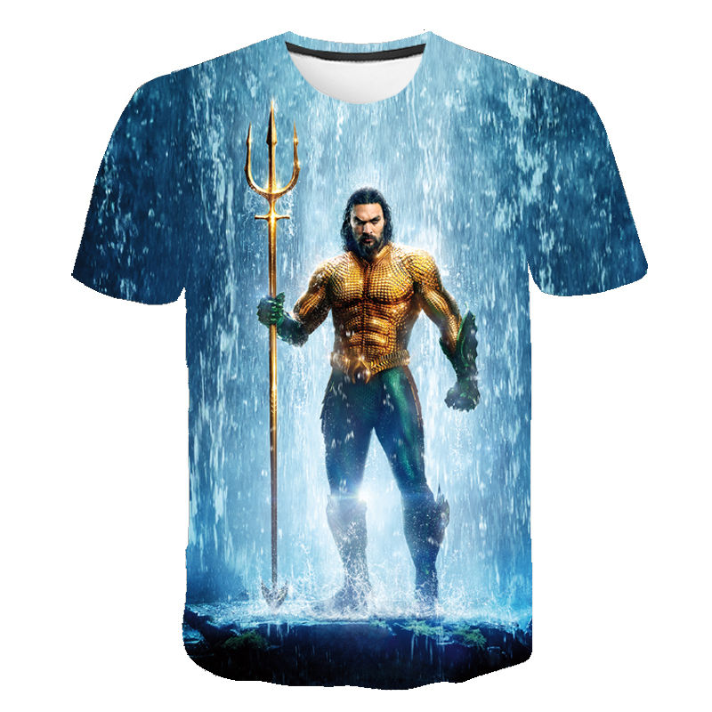 Aquaman Movie Trident Youth Long Sleeve T Shirt