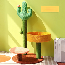Cactus Cat Furniture Tower Ladder Playground Shelves Pet Products Cat Tree Tower Condo Cat House Tree Wooden Cat House