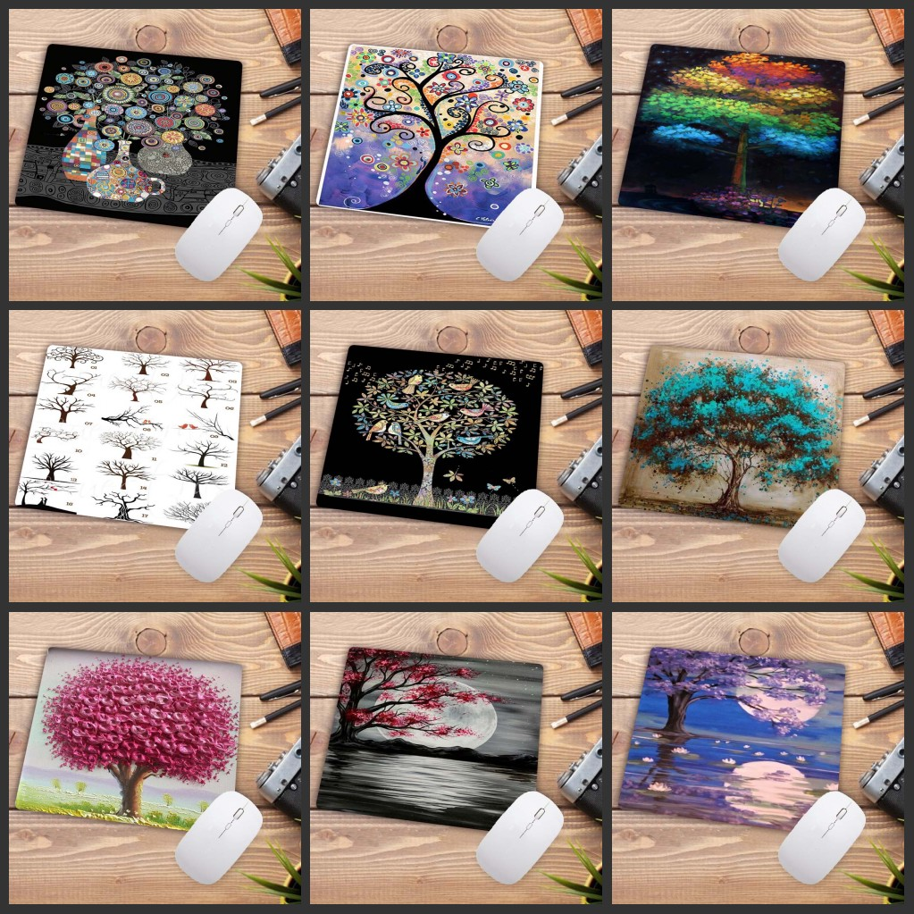 XGZ Personalized Art Plant Trees Mousepad PC Computer Keyboard Mouse Game Desk Rubber Mat Best Selling Gamer Mause Pad 22X18CM