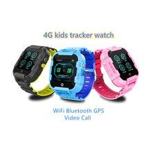 Дети 4G смартфон часы GPS трекер видео звонок WiFi позиционирования СОС SIM телефонный звонок водонепроницаемый дети смарт часы подарок DF39Z