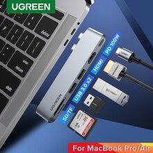 Ugreen adaptador para MacBook Pro Air, conector tipo C con USB Dual USB C a Multi USB 3,0 HDMI, Thunderbolt 3, Dock USB C 3,1