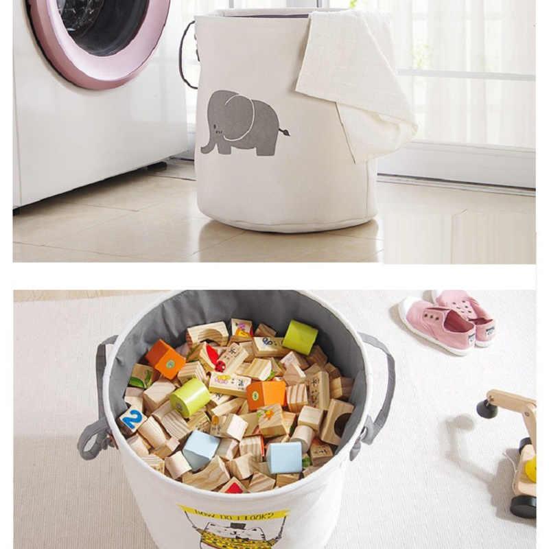 الإبداعية سلة النزهة سلة الغسيل لعبة سلة سوبر كبيرة صندوق تخزين حقيبة قطنية غسل الملابس القذرة سلة كبيرة المنظم
