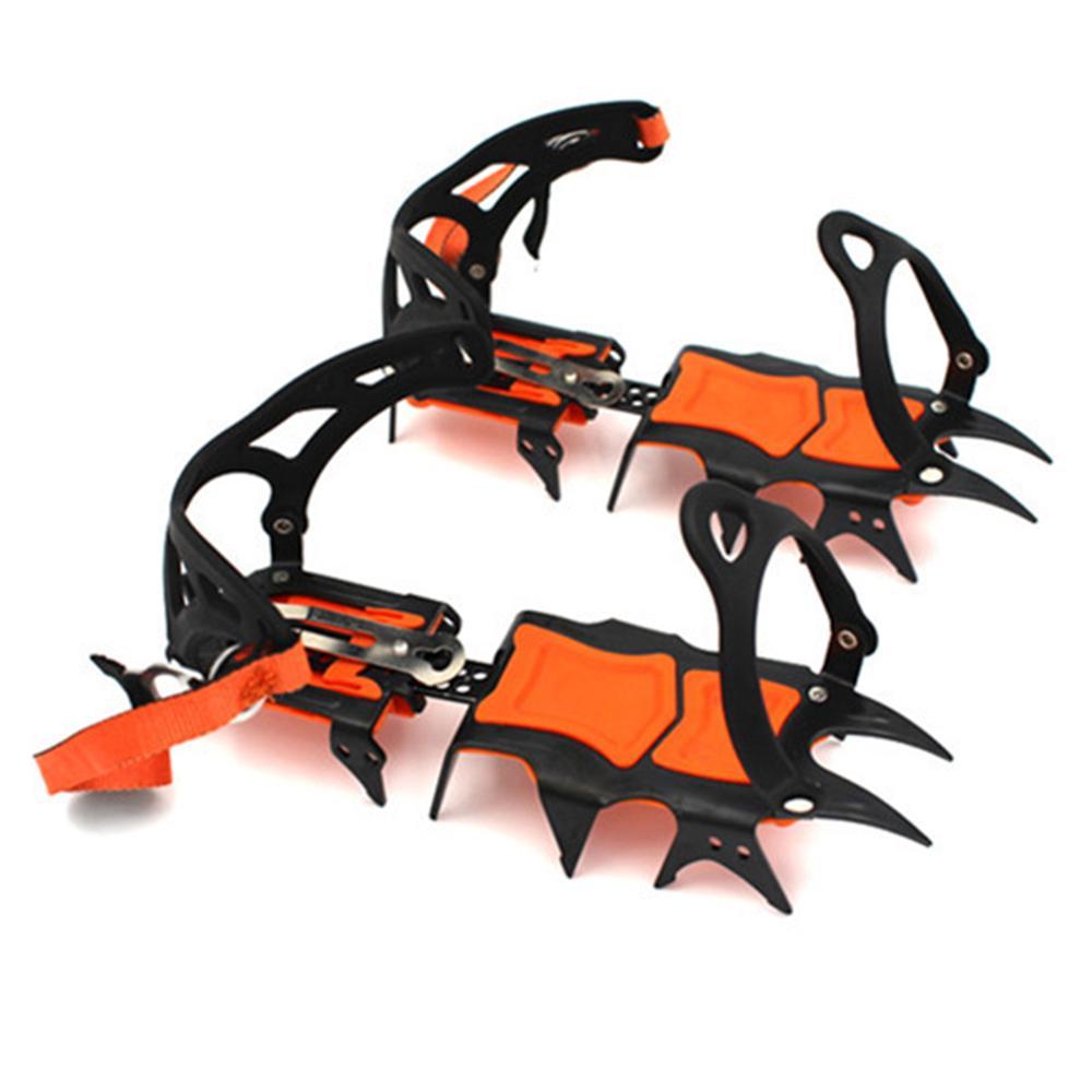 14 Teeth Crampons Professional Snow Mountain Rock Climbing Anti-skid Shoe Cover Bundled Manganese Steel Crampons