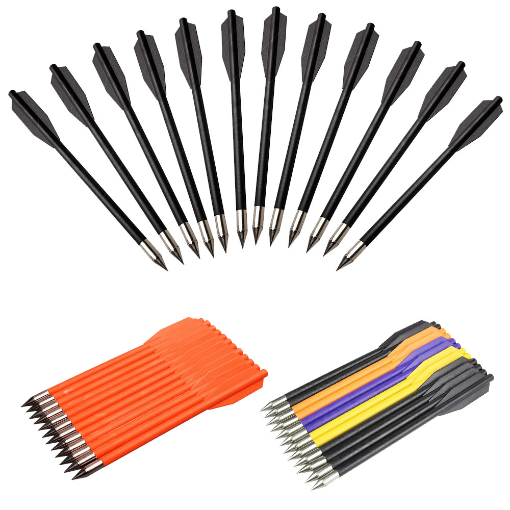 12Pcs Archery Arrows Target Hunting Replacement for <font><b>Crossbow</b></font> Bolt Archery Recuve and Compound Bow Recurve Bow Practice Arrows image