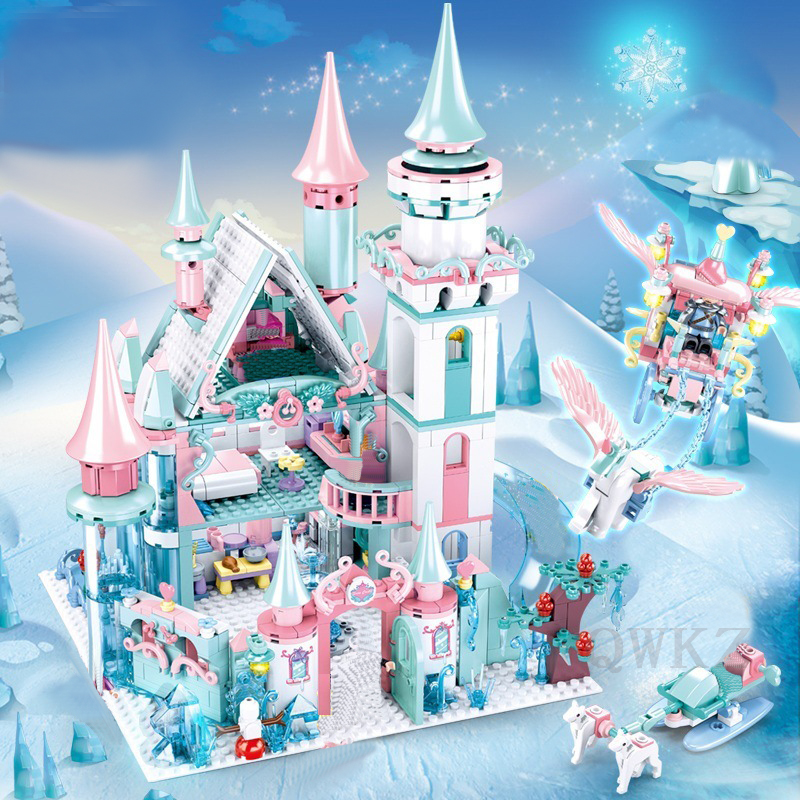 Girl Series Princess Ice Castle Model Building Blocks Bricks DIY Toy Compatible Friend Girl Toys Christmas Gifts