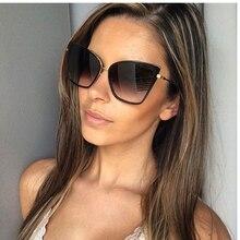 2020 nova marca designer gato olho óculos de sol feminino vintage óculos de metal para mulher espelho retro lunette soleil femme para motorista