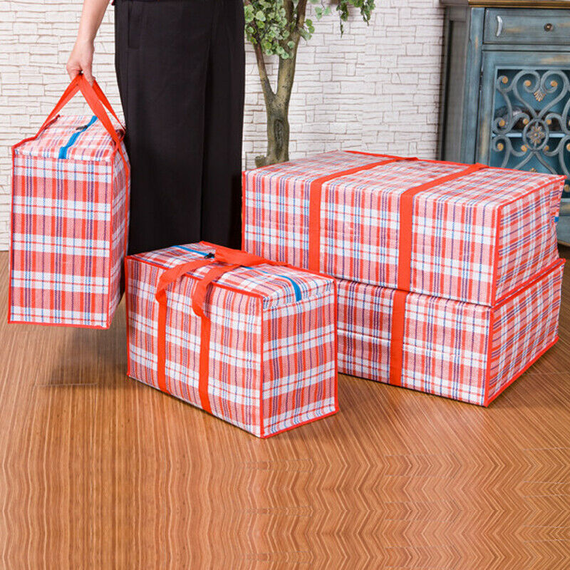 Practical Home Laundry Plastic Bag Zip Folding Reusable Large Capacity Storage Bag Portable Travel Waterproof Organizer 3 Sizes