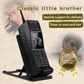 Мобильный телефон в стиле ретро с функцией внешнего аккумулятора и подставкой, две Sim-карты, громкий динамик, FM-радио, Mp3, Mp4, ударопрочные кит...