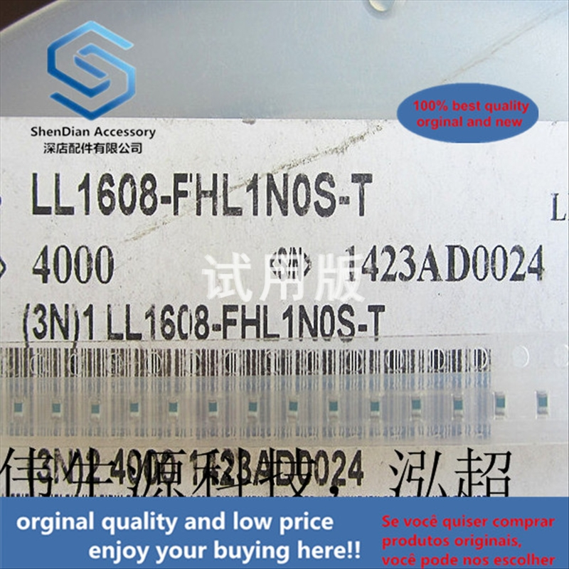 50pcs 100% Orginal New Best Quality SMD Laminated Inductor 1nH 500mA 0.5A 0603 1.6x0.8 LL1608-FSL1N0S