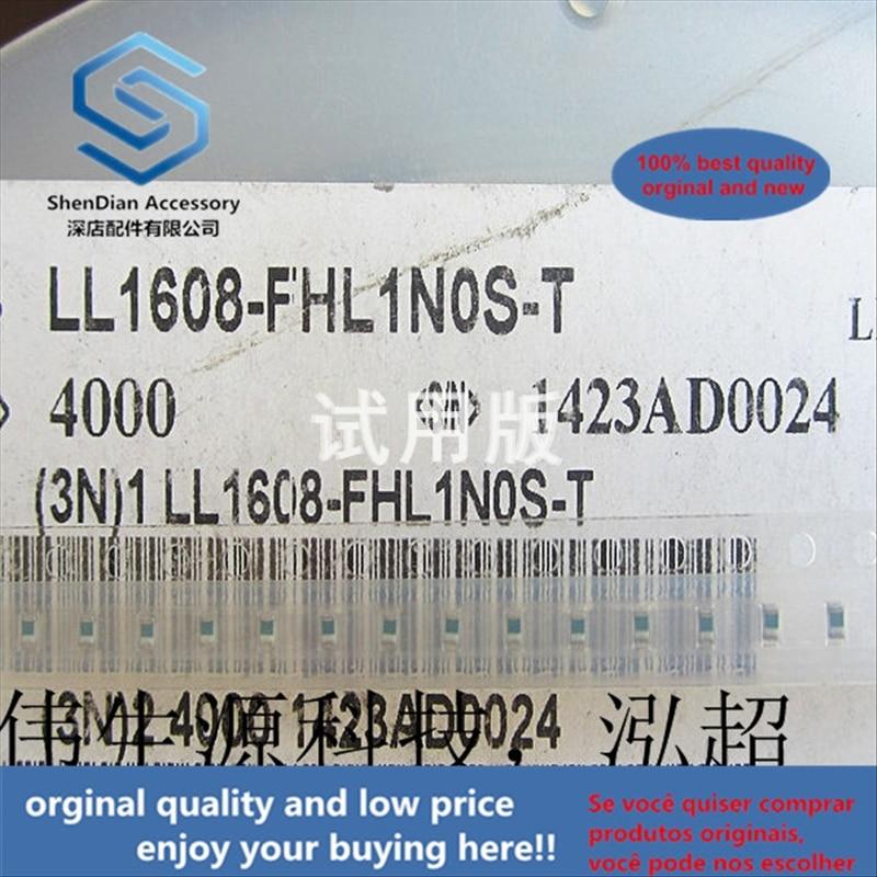 50pcs 100% Orginal New Best Quality SMD Laminated Inductor 1nH 500mA 0.5A 0603 1.6x0.8 LL1608-FSL1N0S