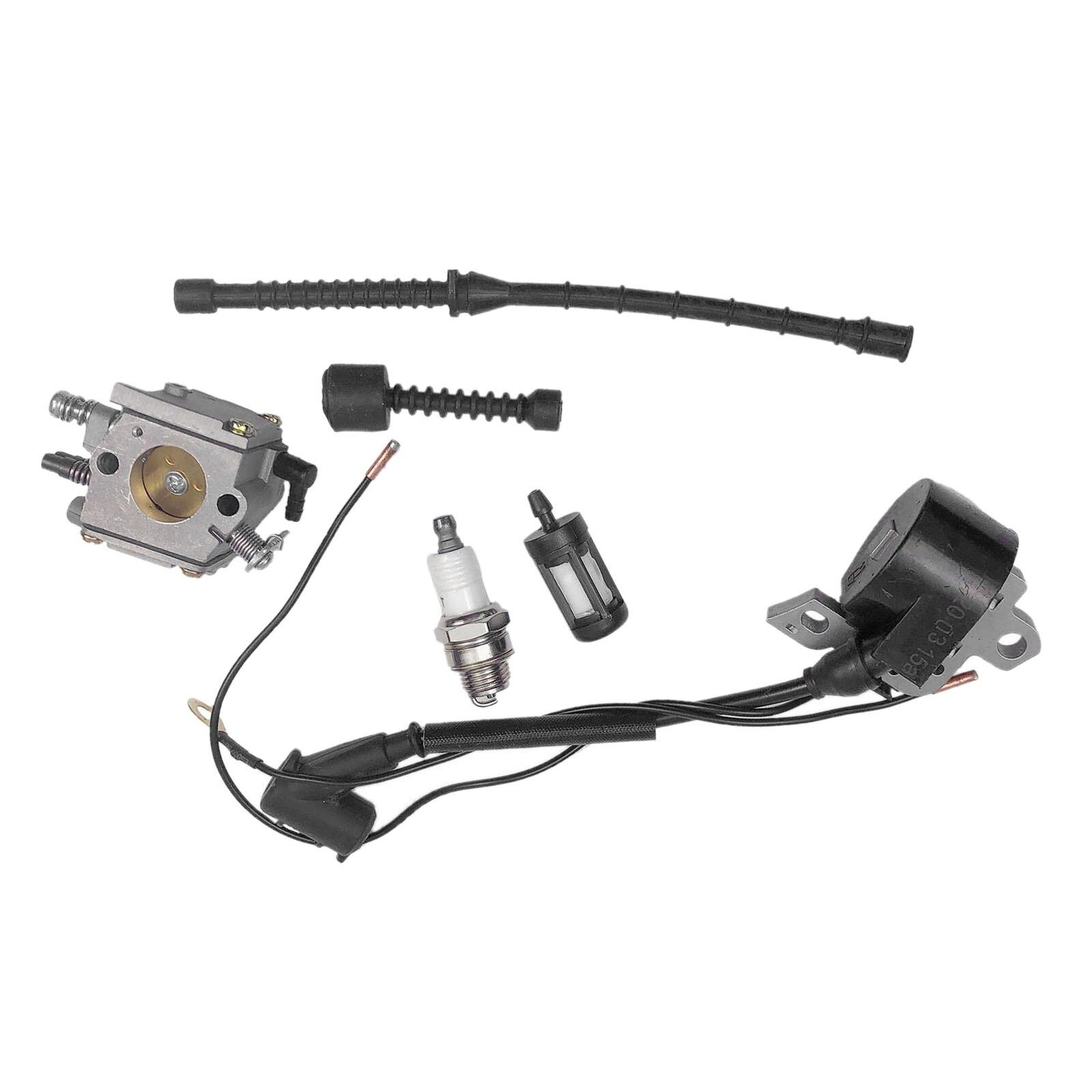 DRELD Carburetor Ignition Coil & Fuel Line/Filer Fit For STIHL Chain Saw/Chainsaws 038 MS380 MS381 038 AV SUPER MAGNUM