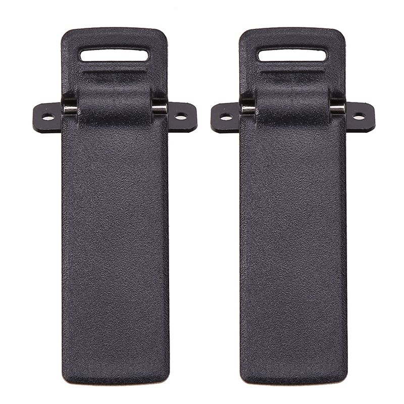 Hot 3C-2Pcs Walkie Talkie Spare Part Back Belt Clip For Baofeng 2-way Radio UV5R For Baofeng Intercom UV5R / 5RA / 5R + / 5RB /