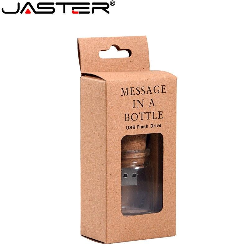 JASTER Stylish Creative Drift Bottle + Cork USB Flash Drive USB 2.0 4GB 8GB 16GB 32GB 64GB Photography Memory Storage U Disk