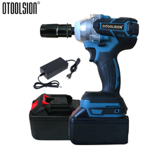 21V Cordless Wrench Brushless Impact Wrench Power Tools Brushless Electric Wrench Impact+Electric Wrench Battery With Tool Parts