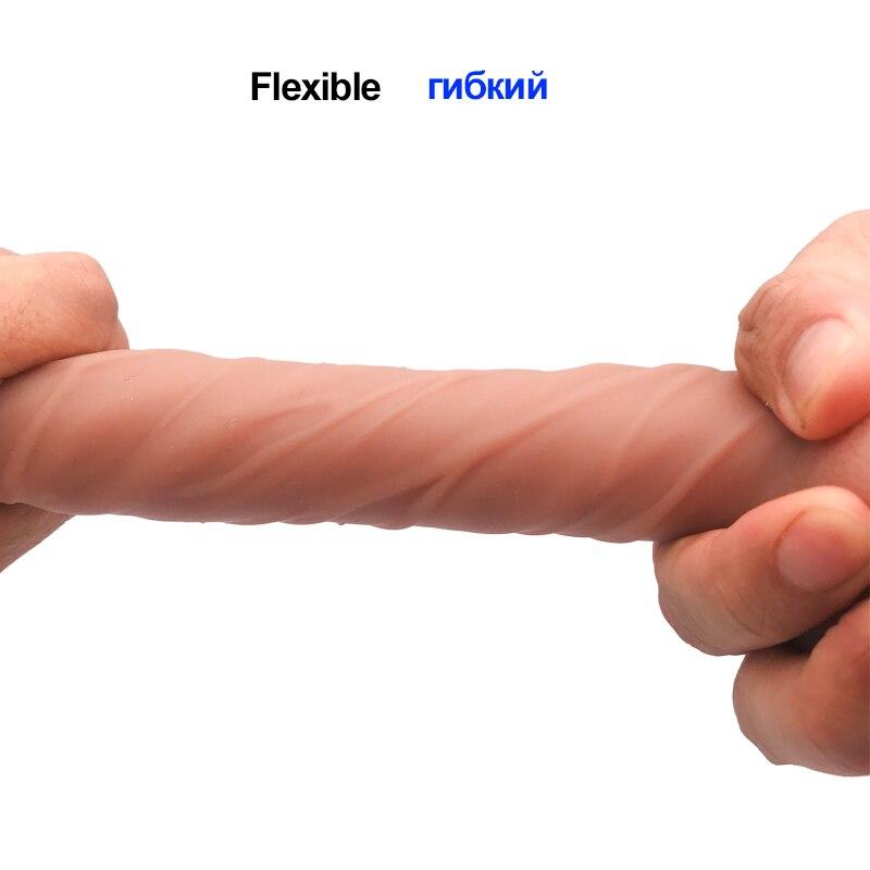 5-Реалистичный дилдо для секса игрушки для женщин силиконовый большой пенис с присоской G Стимулятор точки влагалища женские секс товары для ... смотреть на Алиэкспресс Иркутск в рублях