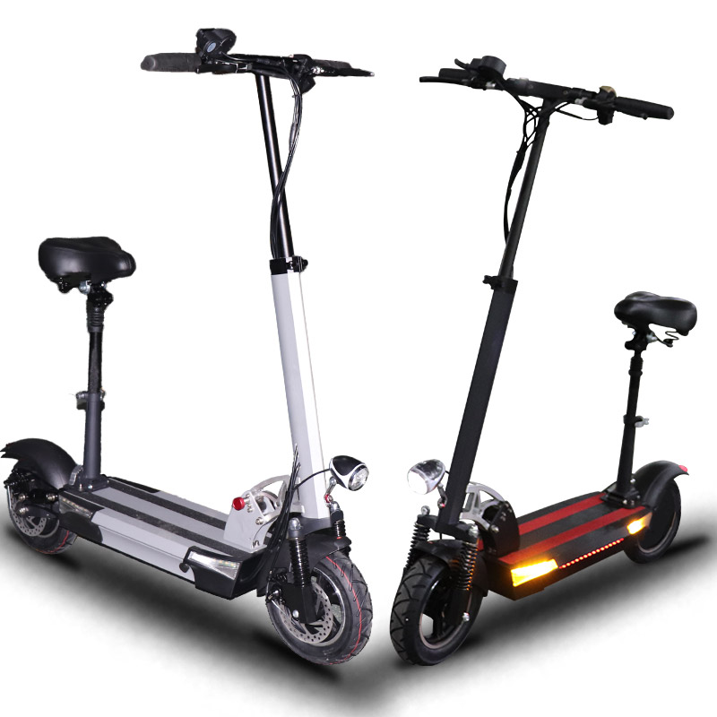 48V 36A lithium battery electric scooter 48v 800w max over 144km Folding electric bicycle with seat electric skateboard