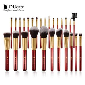 Image 2 - DUcare Makeup Brushes 27Pcs Classic red Professional Makeup Brush Set Premium Synthetic Goat Pony Hair Blending Brush MakeUp Kit