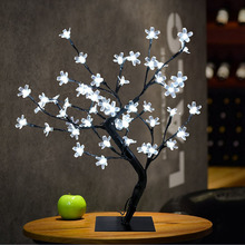 48 LED Cherry Simulation Tree Light Table Lamps Night light for Home Bedroom Wedding