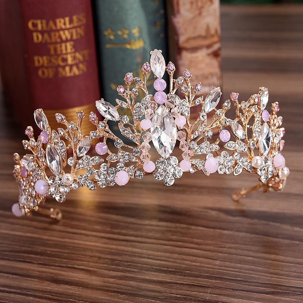 Handmade Rhinestone Bride Princess Tiara For Wedding Women Bride Jewelry Hair Accessories Ornaments Headband