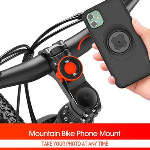 Image 2 - 2020 New Mountain Bike Phone holder For iPhone 11 Pro XsMax X 8 7 Bicycle Handlebar Mount Cell Phone Stand With Shockproof Case