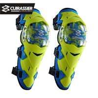 Rodilleras de motocicleta Cuirassier protectoras para moto todoterreno, protectores de codos de carreras, abrazadera de seguridad MX para carreras