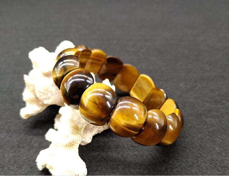 Bracelet pierre oeil de tigre cercle unique pierre oeil de tigre Bracelet forme homme et femme cadeau anniversaire amulette porte-bonheur