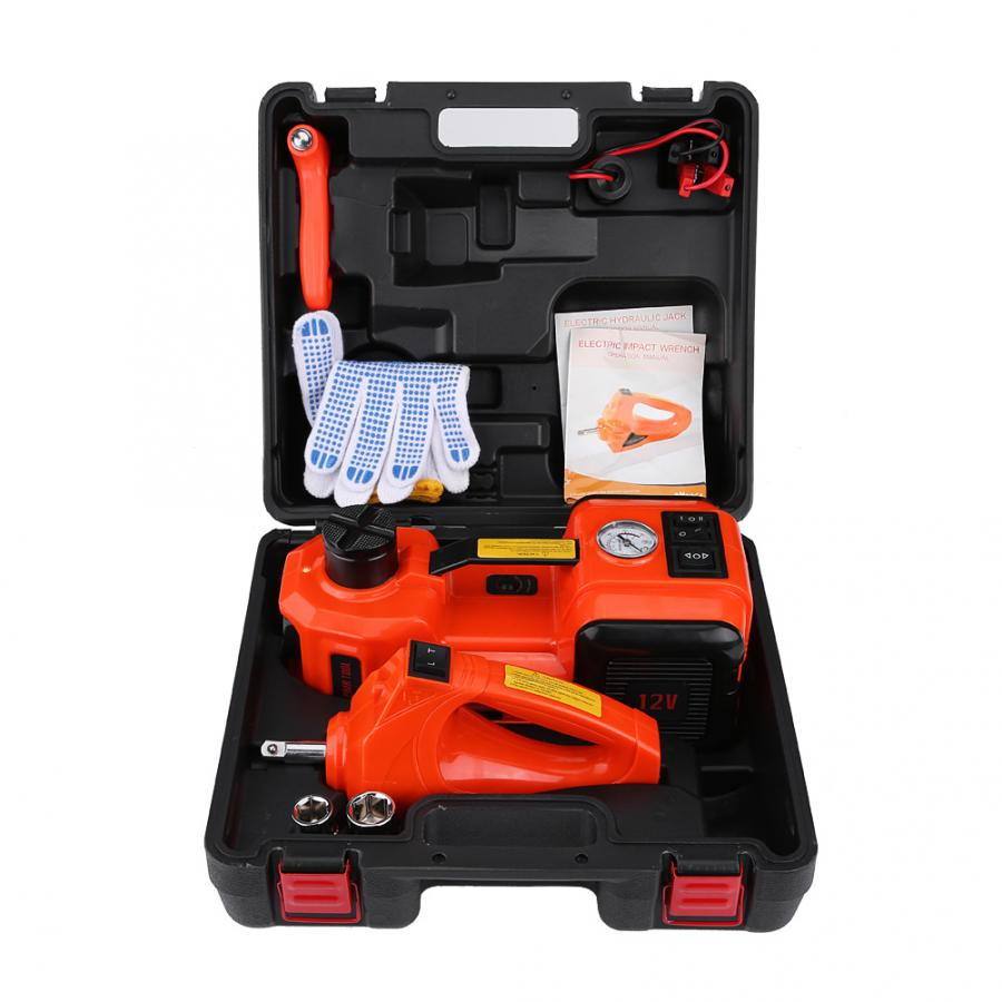 5Ton 12V DC Automotive Car Electric Floor Jack Lift Garage And Emergency Equipment Auto Lifting Repair Tools Kit