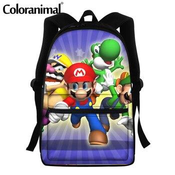 Coloranimal 2020 Japanese Anime Mario Design School Bags For Teenger Girls Boys Casual Backpacks Large Scool Bag Men Satchel 14