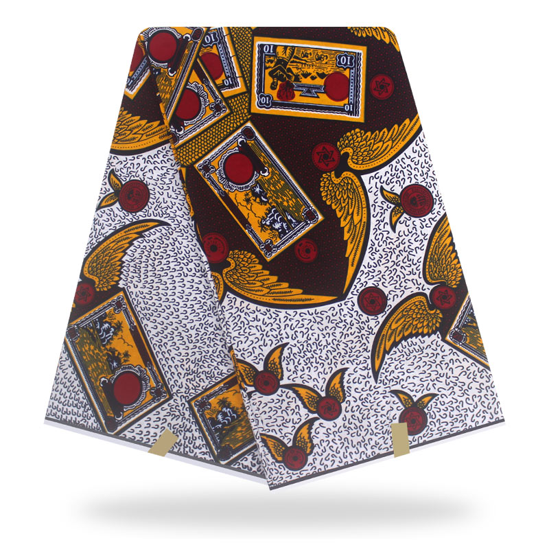 African Fabric Wax Print Real Wax Cloth 100% Cotton Material 6yards African Ankara Wholesale Cotton Wax Fabric For Dress
