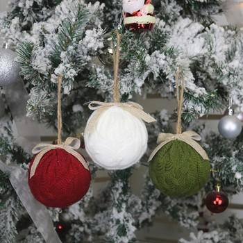 Nowe ozdoby świąteczne z dzianiny w kształcie kulki ozdoby na choinkę strona główna świąteczne akcesoria do dekoracji wnętrz tanie i dobre opinie CN (pochodzenie) Bez pudełka na prezent
