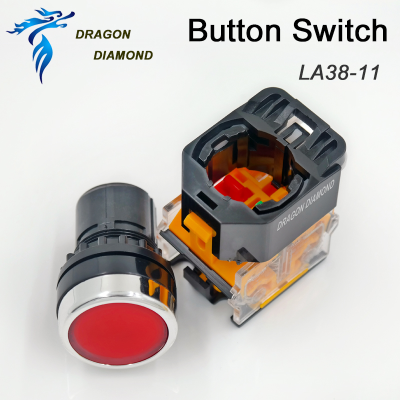 Button Switch LA38-11 For CO2 Laser Machine CNC Spare Parts