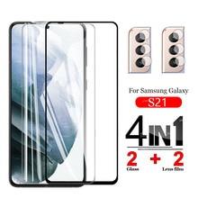 Tempered-Glass Camera-Lens Plus-Screen-Protectors S21 S21plus Samsung