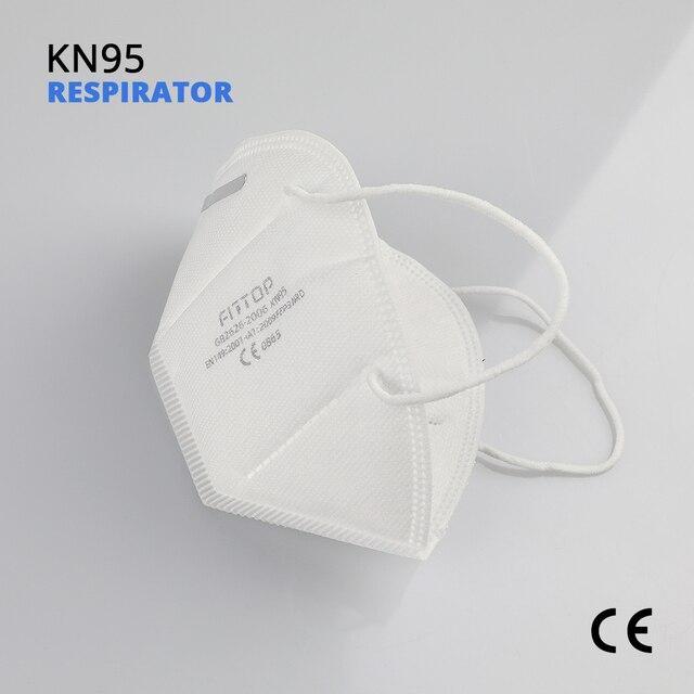 5 pcs KN95 Certificazione CE Viso Maschera N95 FFP3 Bocca Maschera Anti Forte di Protezione di FFP2 KF94 2