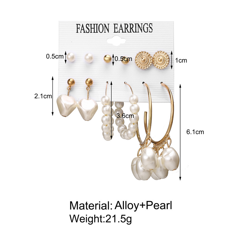 H6a328eefc9c14110abc2555e5d5dbd80m - IF ME Fashion Vintage Gold Pearl Round Circle Drop Earrings Set For Women Girl Large Acrylic Tortoise shell Dangle Ear Jewelry
