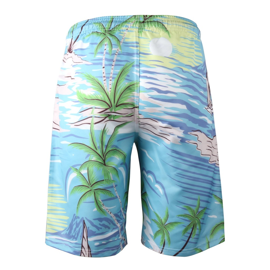 Summer 2019 Shorts Men Fashion Printed Quick Dry Mens Beach Shorts Causal Drawstring Fitness Male Board Shorts Plus Size Mar25