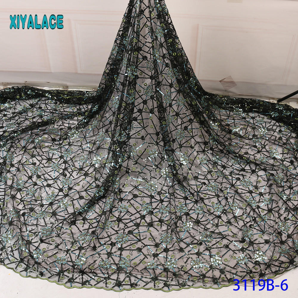 2019 High Quality Embroidered Lace Fabric Nigerian Woman Lace Fabrics Dress African Lace Fabric French Lace Fabric YA3119B-6