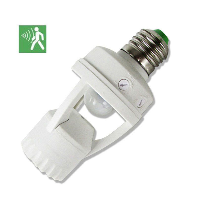110-220V LED Induction Switch Pir Induction Motion Sensor IR Infrared Human E27 Plug Socket Switch Base Led Bulb Lamp Holder