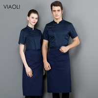 High quality short sleeved Shirt Restaurant hotel Kitchen chef Uniform Breathable cooker coat Chef Jackets work clothes for men