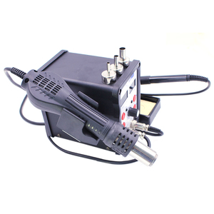 Image 5 - ESD Soldering Station 8586D Double Digital Display Electric Solder Iron Hot Air Het Gun SMD BGA Rework Welder Desoldering Repair