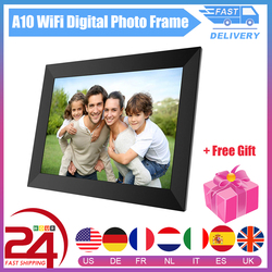 A10 WiFi Digital Photo Frame 10.1 Inch HD IPS LCD Screen Frame Support Clock/Calendar/Music/Photo/Video For Merry Christmas Gift