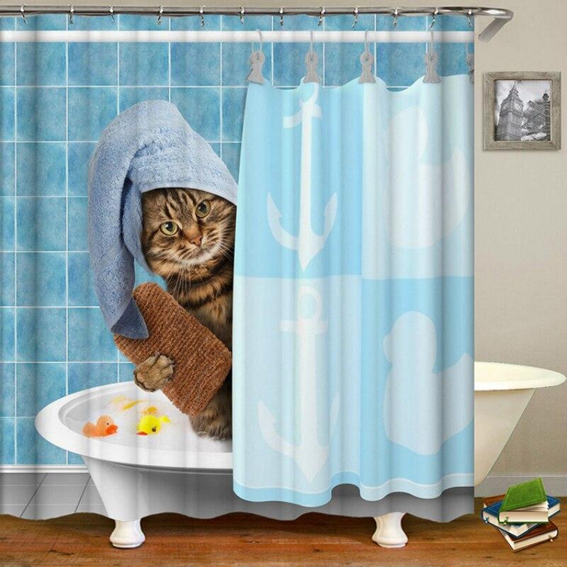 タンポポプリント防水シャワーカーテンポリエステルカーテンホーム浴室カーテン 12 フックシャワーカーテン