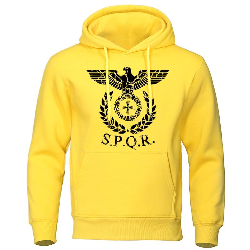 SPQR Roman Eagle Hoodies Men Tracksuit 2019 Autumn Winter New Sweatshirt High Quality Brand Man Hoodie Casual Sportwear Pullover