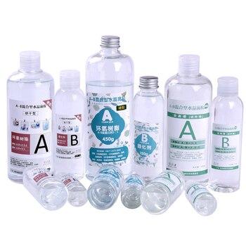 Transparent harz epoxy harz hohe transparent AB leim epoxy harz mold material kristall kleber harz schmuck probe formenbau
